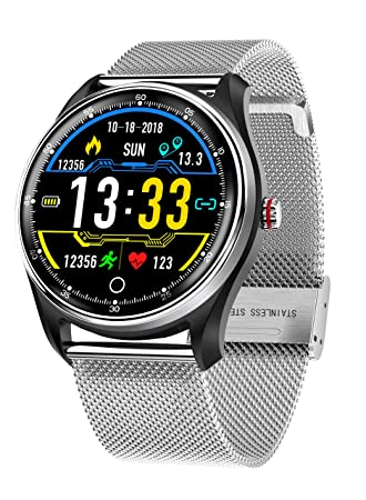 HAMSWAN Reloj Inteligente, MX9 ECG Reloj Inteligente Presión ...