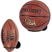 Wallniture Palla Ball Organizers and Storage for Soccer Ball & Basketballs Metal Rack Set of 2 Black