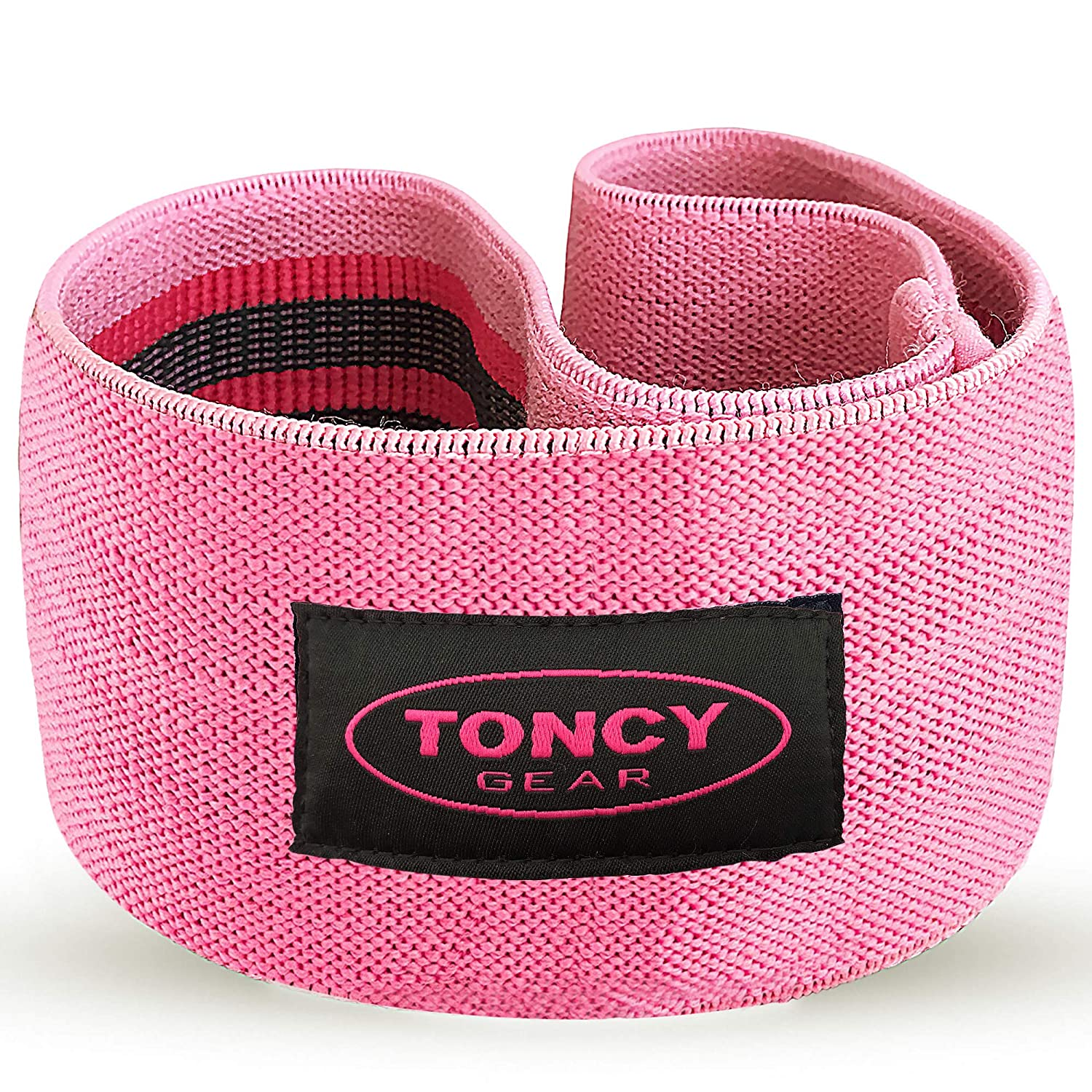 Toncy Gear Hip Resistance Circle Booty Bands - That Fires Up a Flawless Butt Hump | Soft & Thick Cloth Fabric Glute Band Loop for Warm Ups, Side Walk, Squat | Non Roll Design With Bonus Carry Bag