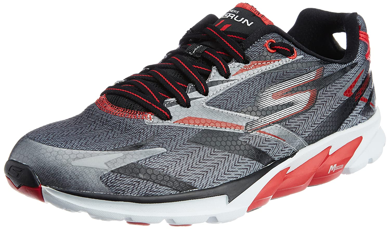 Go Run 4 Black and Red Running Shoes