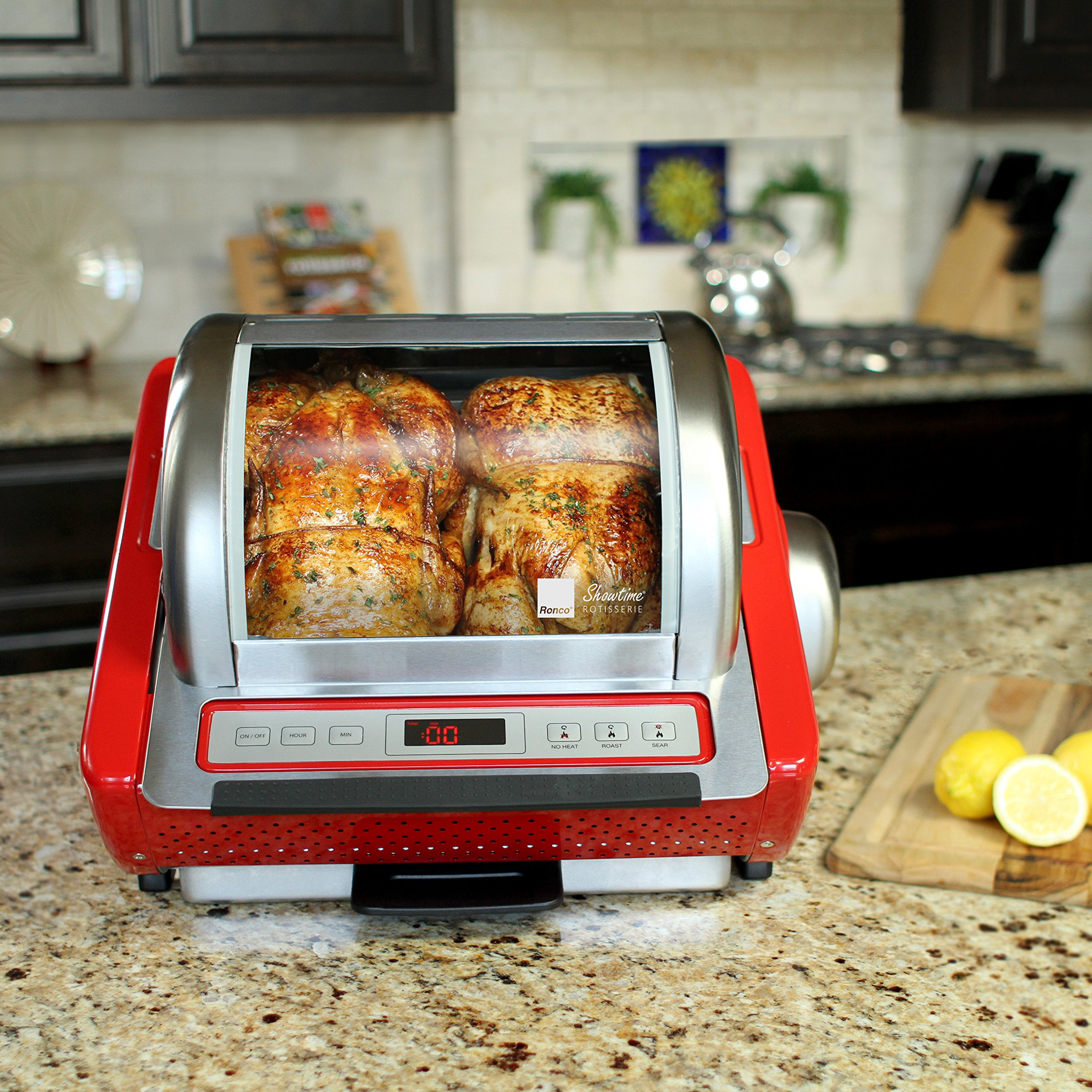 Ronco Digital Showtime Rotisserie and BBQ Oven, Red