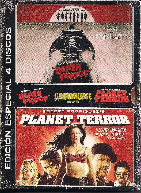 Pack Grindhouse: Death Proof y Planet Terror: Amazon.es: Freddy Rodriguez, Bruce Willis, Rose McGowan, Josh Brolin, Naveen Andrews, Marley Shelton, Kurt Russell, Rosario Dawson, Vanessa Ferlito, Zoe Bell, Rose McGowan, Quentin Tarantino: