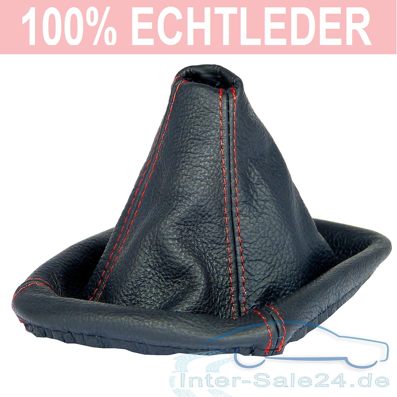 L/&P A0062 Funda saco cuero de 100/% real piel genuina negro con costura roja rojo de palanca de cambios cambio velocidad velocidades marchas saco de conmutaci/ón