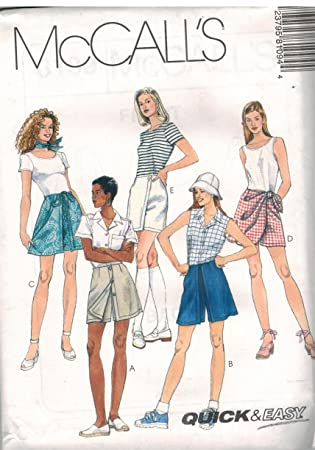 Amazon 8109 Mccalls Sewing Pattern Uncut Misses Quick Easy