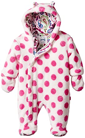 e3b215046 Kite Kids Baby-Girls Spotty Fleece Polka Dot Snowsuit
