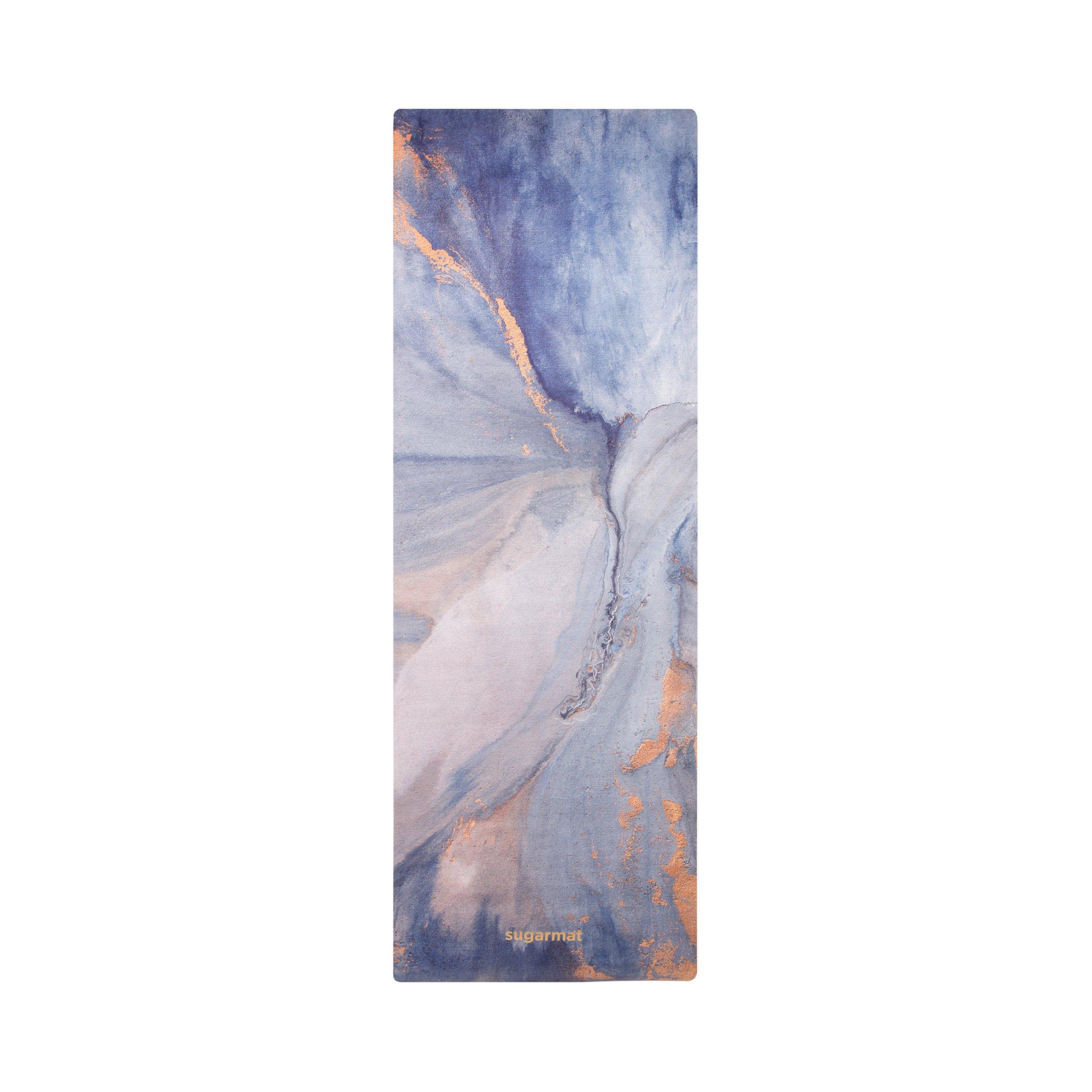 ''Soft Awakening'' Designer Yoga Mat by Sugarmat I Eco Luxury and Non-slip I Designed in Montreal I Ideal for Yoga, hot yoga, Pilates I Machine washable I Non-faded color I Include yoga strap by Sugarmat