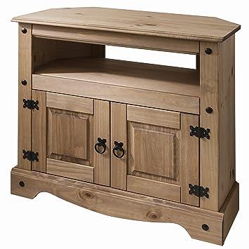 Holz Tv St Auml Nder Eckschrank Ndash Massivholz Amazon De Kuche