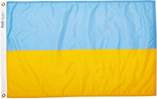 product image for Annin Flagmakers Model 221640 Ukraine Flag Nylon SolarGuard NYL-Glo, 2x3 ft, 100% Made in USA to Official United Nations Design Specifications