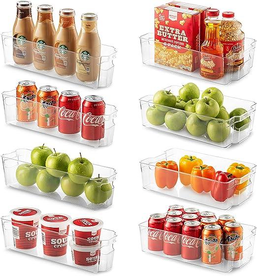 Seseno Conjunto de 8 frigorífico Organizador Bins - 4 Grandes y ...