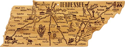 Totally Bamboo Tennessee State Destination Bamboo Serving and Cutting on buffalo mountain johnson city tn map, smith county tn map, greeneville greene county tn map, greeneville tennessee,
