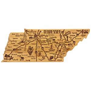 Totally Bamboo Tennessee State Destination Bamboo Serving and Cutting Board