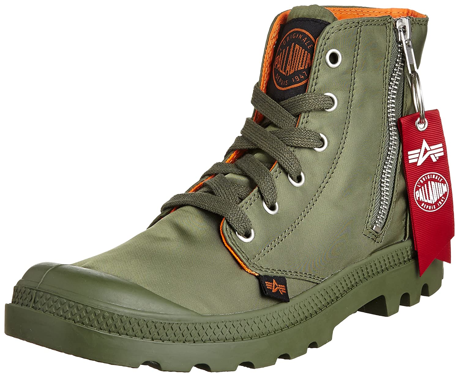 Amazon.com: Palladium Men's Pampa High Zip MA Boot,Sage/Orange,8 M ...