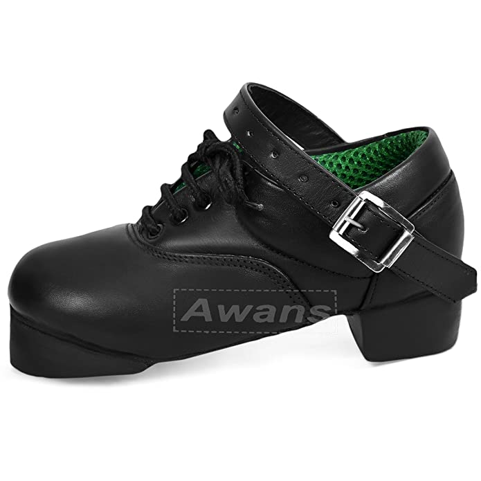 Tds IRISH DANCING HEAVY SHOES - Zapatillas de danza de cuero para hombre negro negro, color negro, talla 40.5