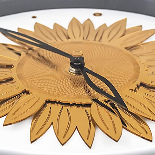 BOTANADU Sunflower Clock Wall Clock