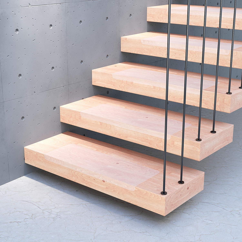 20 x 65 cm transparent und selbstklebend Easy Clean f/ür Treppen//Stufen Treppenschutz 17 x Sossai/® Stufenmatte STAIR PROTECT