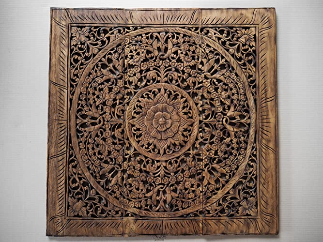 Amazon.com: Bohemian Hand Sculpted Balinese Wall Art Hanging For ...