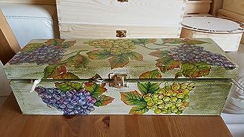Exclusivo de Madera Caja de vino, vino soporte de madera para 1 botella, caja