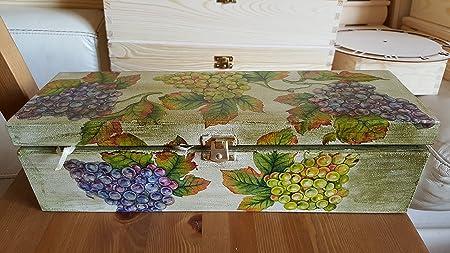 Exclusivo de Madera Caja de vino, vino soporte de madera para 1 ...