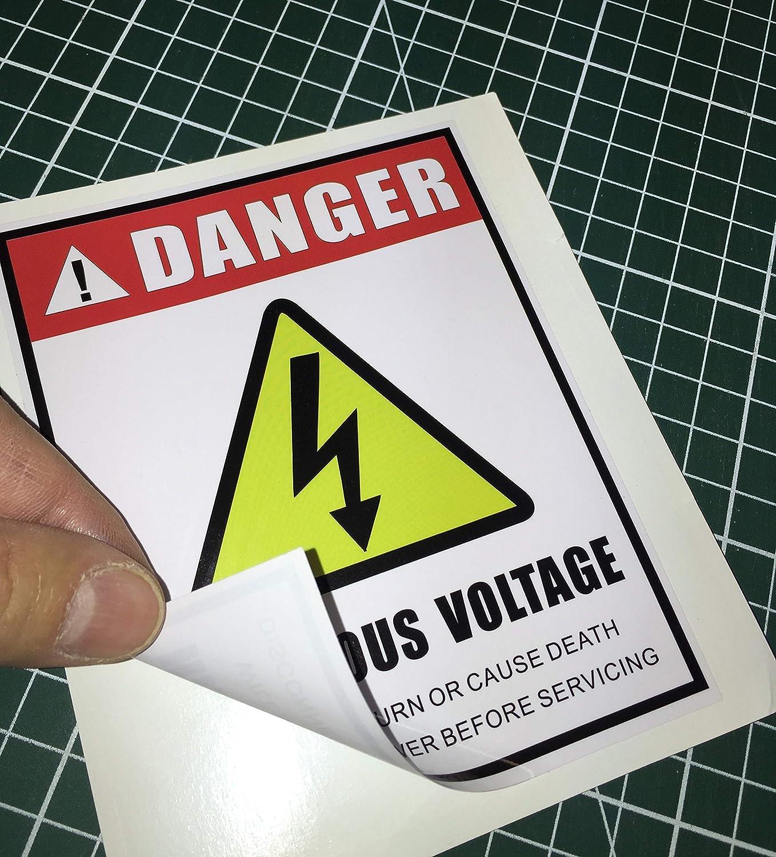 Amazon.com: Pegatina de advertencia de seguridad eléctrica ...