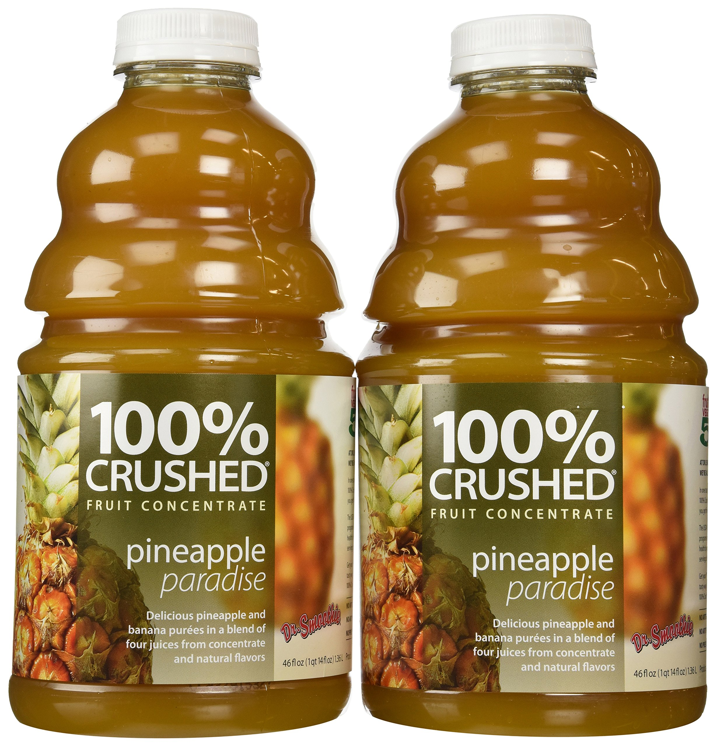 Amazon.com : Dr. Smoothie 100% Crushed Fruit Concentrate, Pineapple  Paradise, 46-Ounce Bottles (Pack of 2) : Juice Smoothie Drinks : Grocery &  Gourmet Food