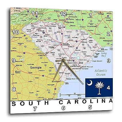 Amazon.com: 3dRose Lens Art by Florene - Topo Maps, Flags of States ...