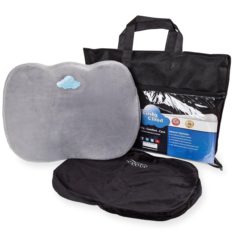 Amazon Cushy Cloud Memory Foam Seat Cushion Ergonomic Chair