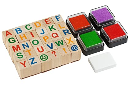 Moore Premium Wooden Alphabet Stamp Set