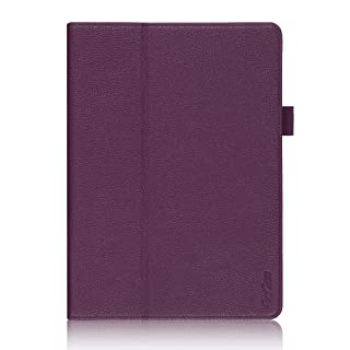 ProCase Galaxy Tab S 10.5 Case - Bi-Fold Flip Stand Cover Case Exclusive for 2014 Galaxy Tab S Tablet (10.5 inch, SM-T800), with Hand Strap, auto Sleep/Wake (Purple)
