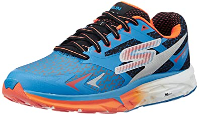 45167f6b61eb Skechers Men s Go Run Forza Blue and Orange Track and Field Shoes - 9 UK