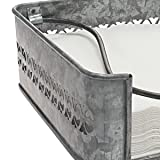 Stonebriar Rustic Silver Galvanized Metal Table Top