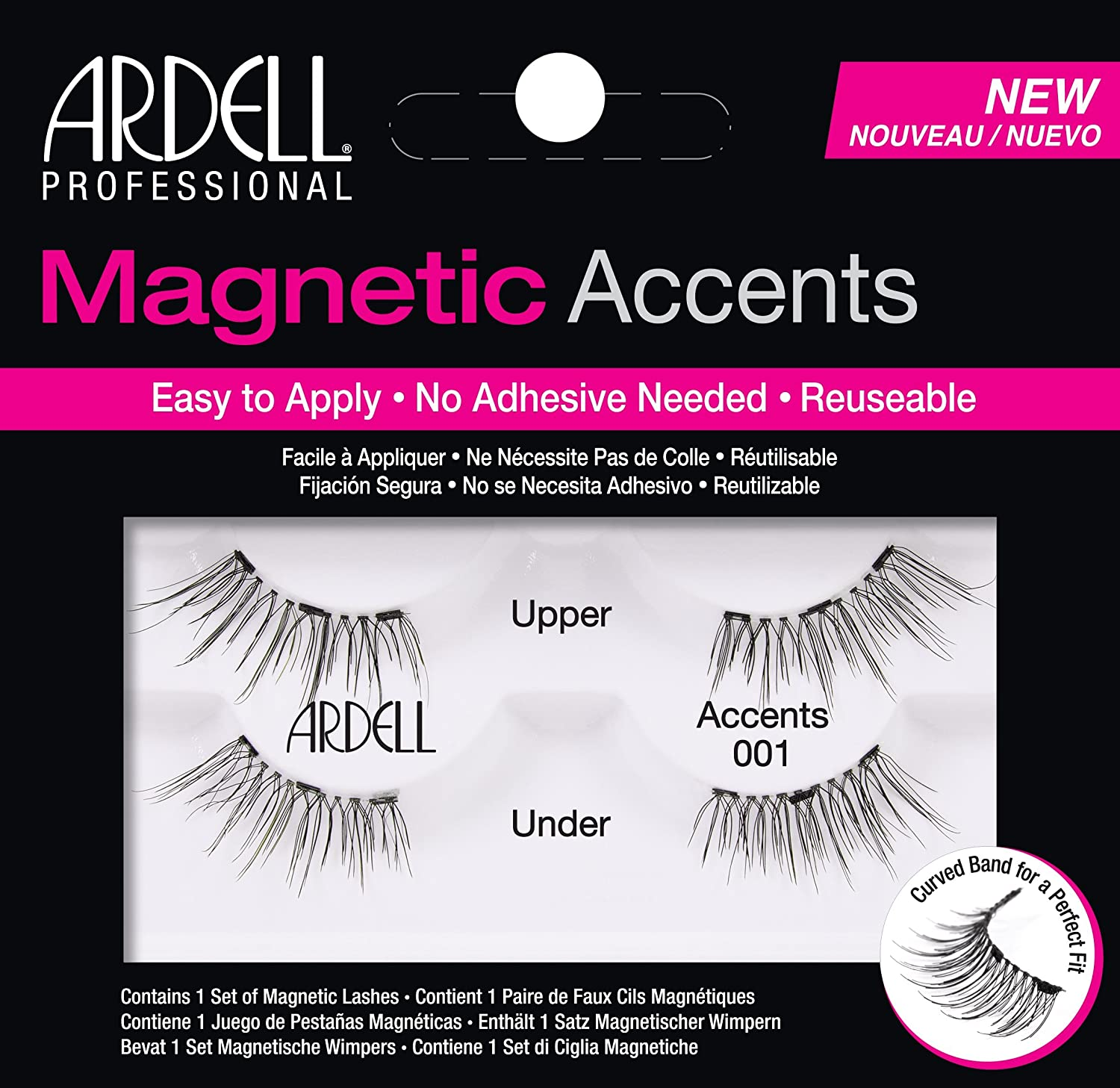 eb2e52790bc Ardell Magnetic Lashes Natural Accents 001: Amazon.co.uk: Beauty