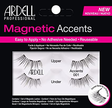 6682f815edd Buy Ardell Magnetic Lashes Accents 001, Black, 10 g Online at Low Prices in  India - Amazon.in
