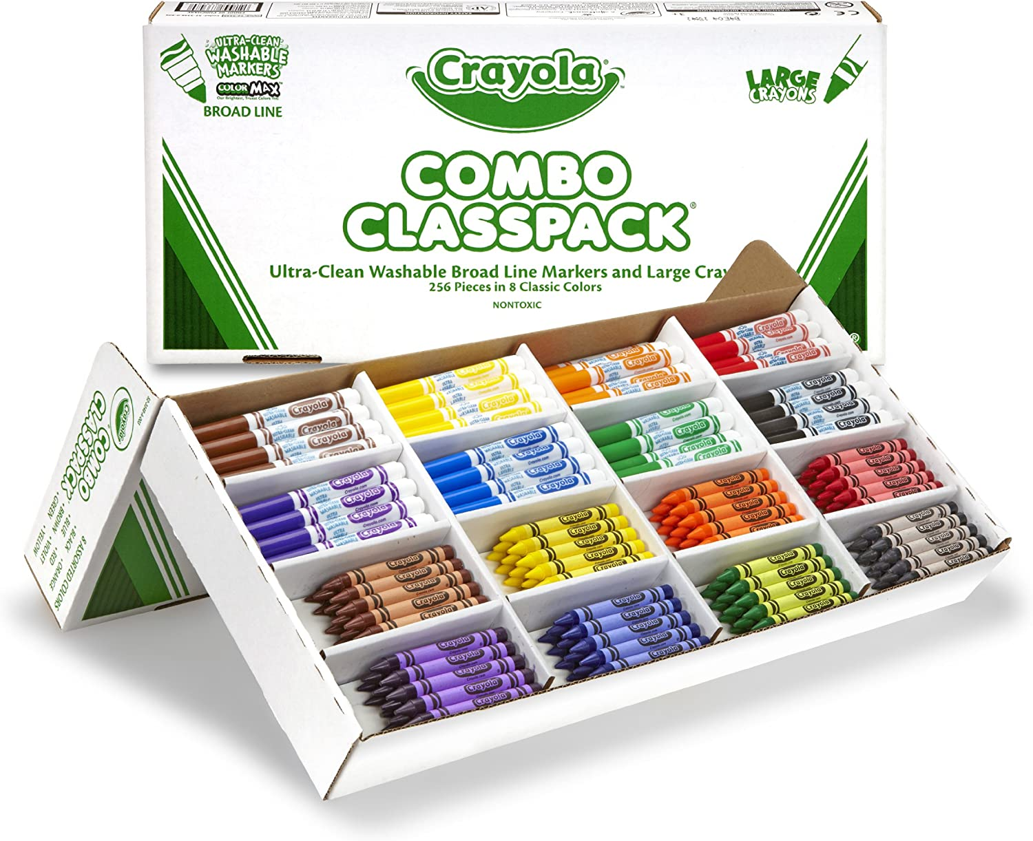 Crayola Bulk Markers and Crayons 256 Count Classpack