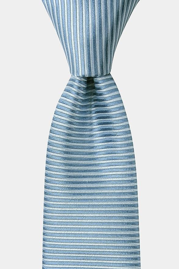 DKNY - Corbata de rayas horizontales para hombre, color azul cielo ...