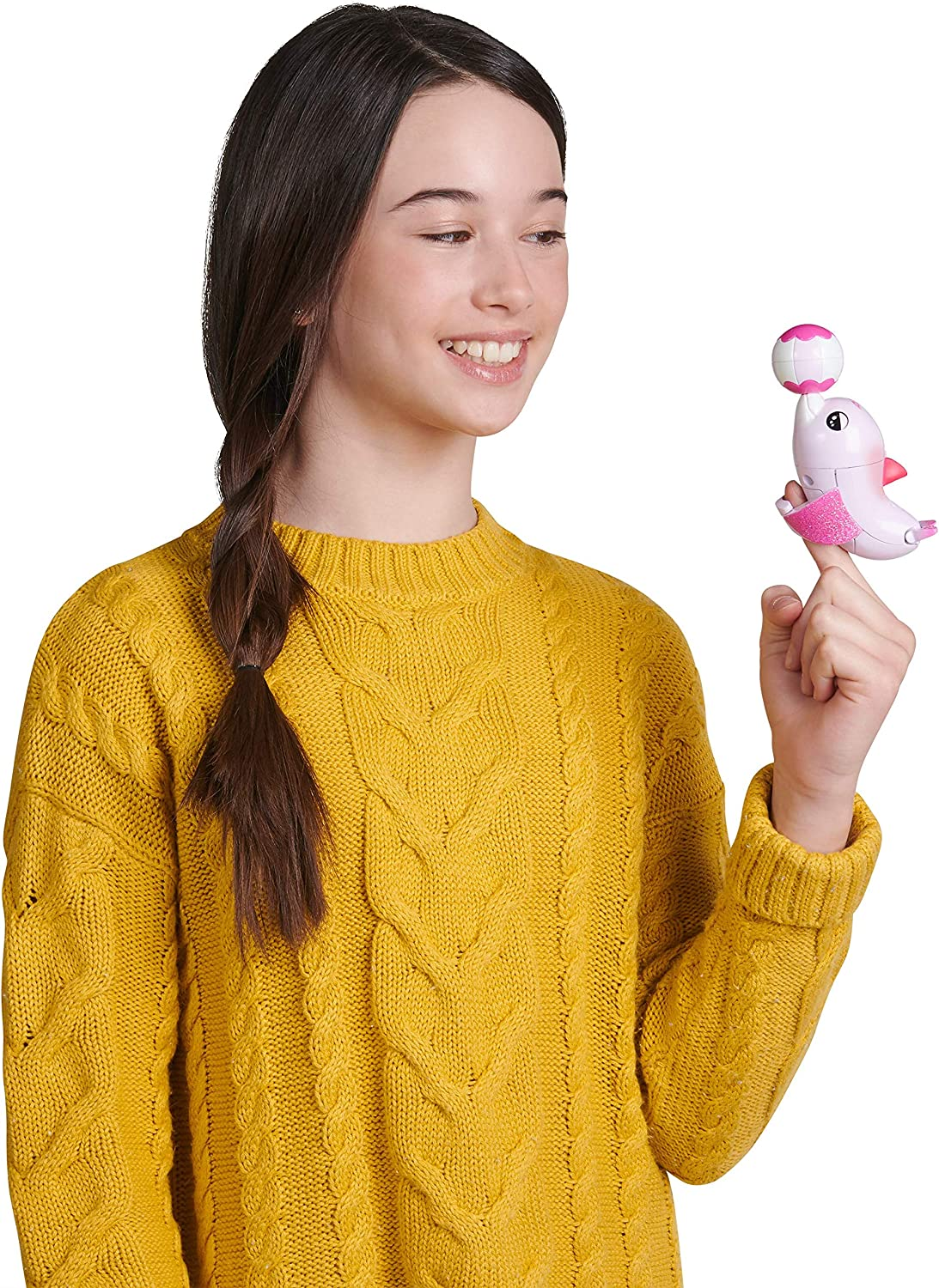 - Interactive Toy Pink Jules WowWee Fingerlings Baby Light-Up Dolphin