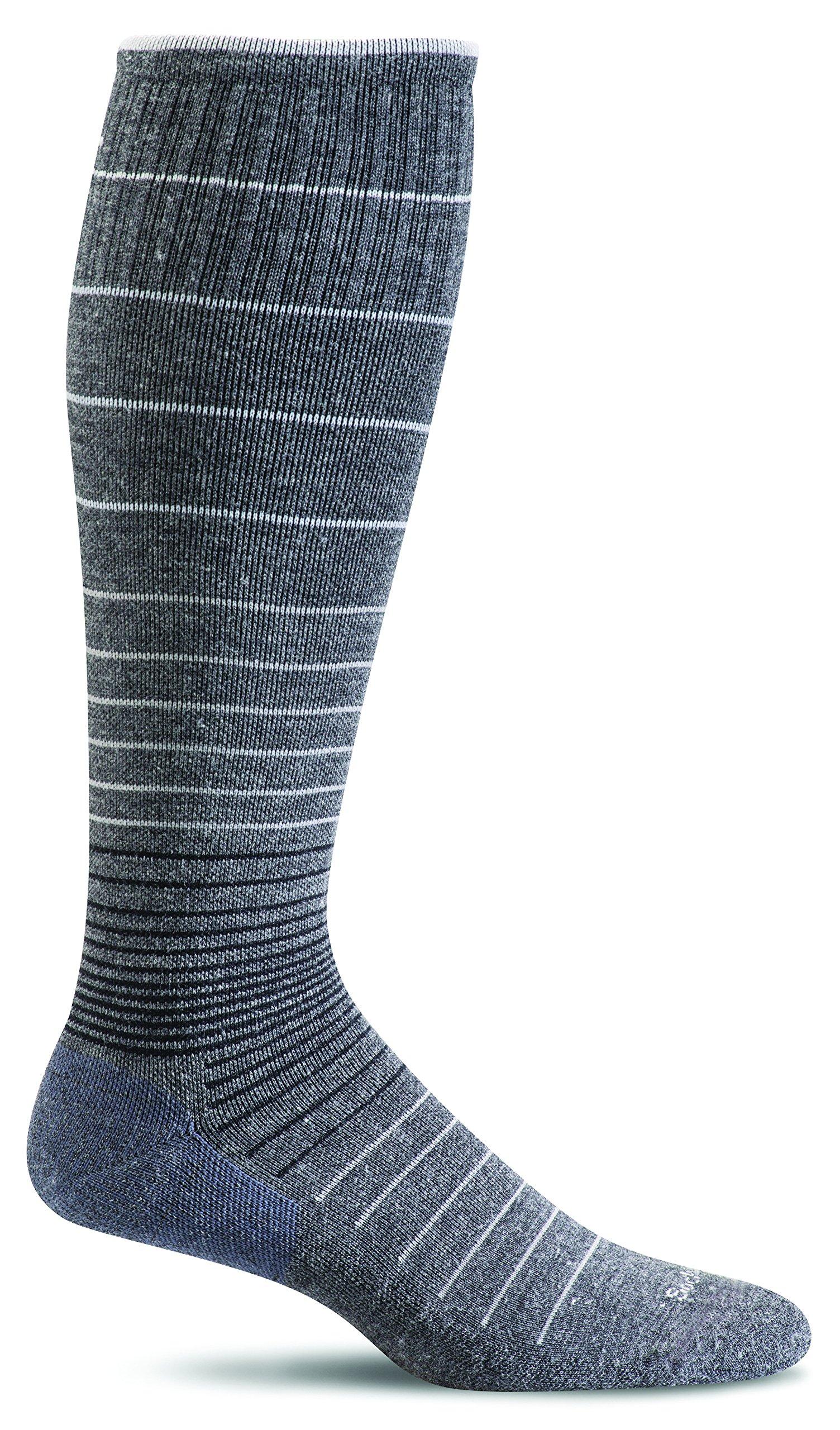 Sockwell Women's Circulator Graduated Compression Socks, Small/Medium (4-7.5) Charcoal