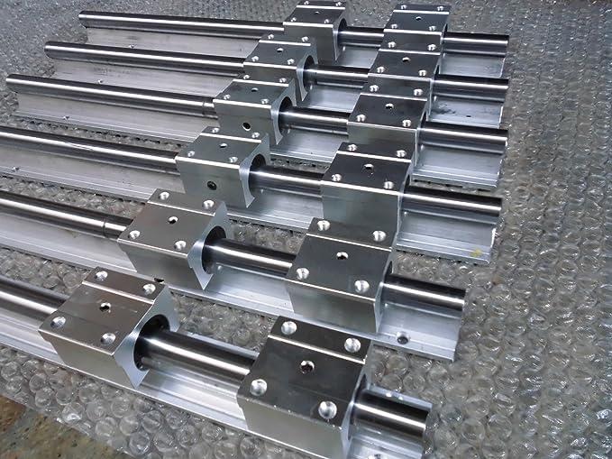 2 set HSR20--500mm Linear rail/&Faster SFE2020--500mm Ballscrew /&BF15//BK15 Kit