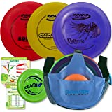 Innova Disc Golf Starter Set | Beginner Discs - 1025 Putting Game - Flight Reference Card - Driven Mini Marker | Disc Colors Vary