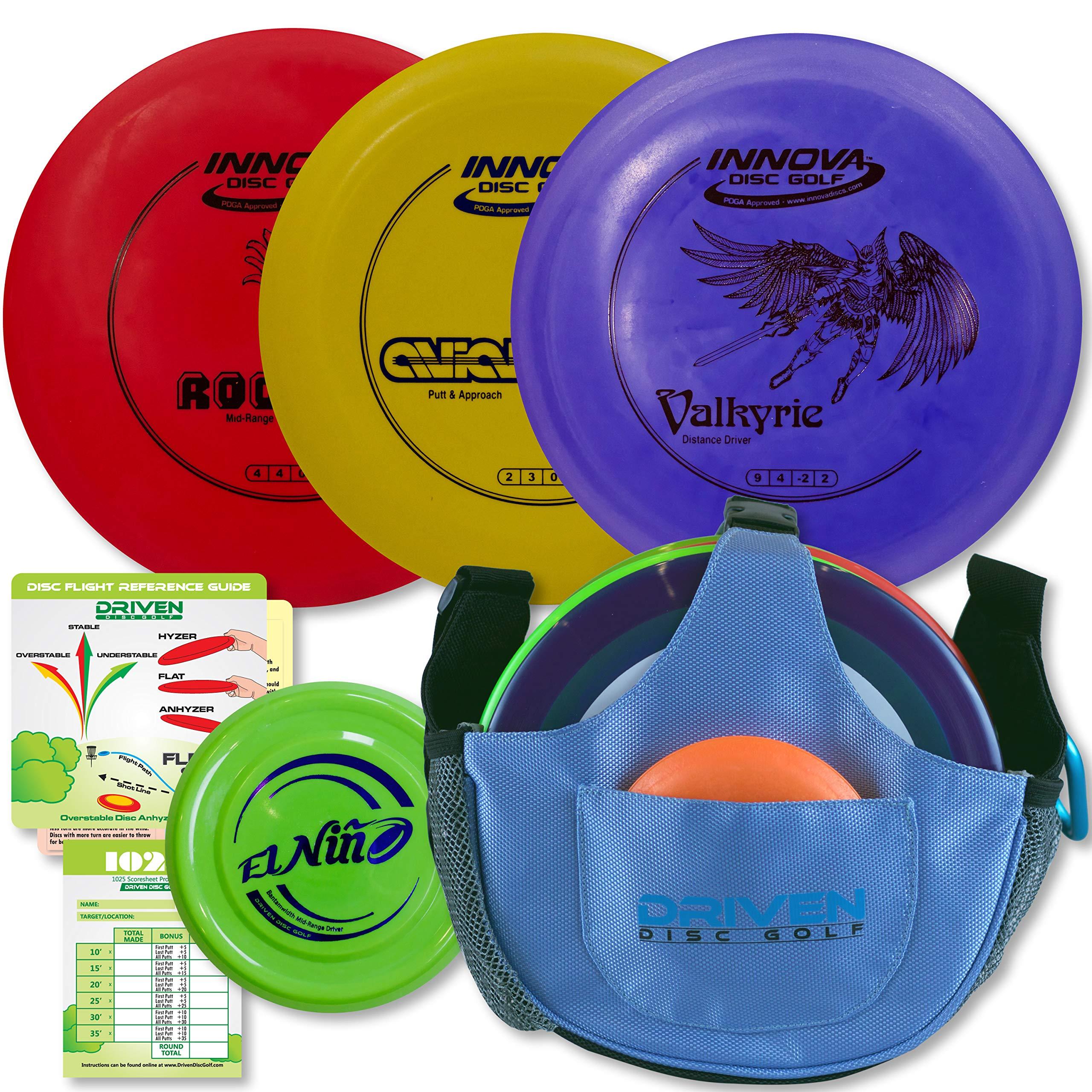 Driven Disc Golf Starter Set - 3 Disc Set with Bag by Driven Disc Golf
