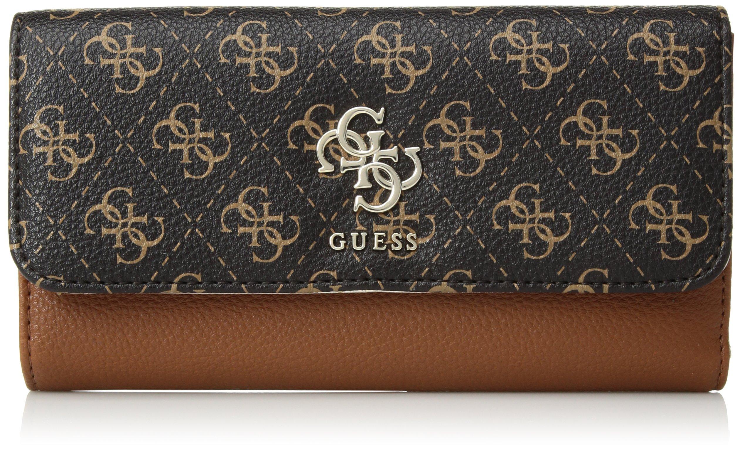 GUESS Digital Multi Clutch Wallet, Cognac Multi