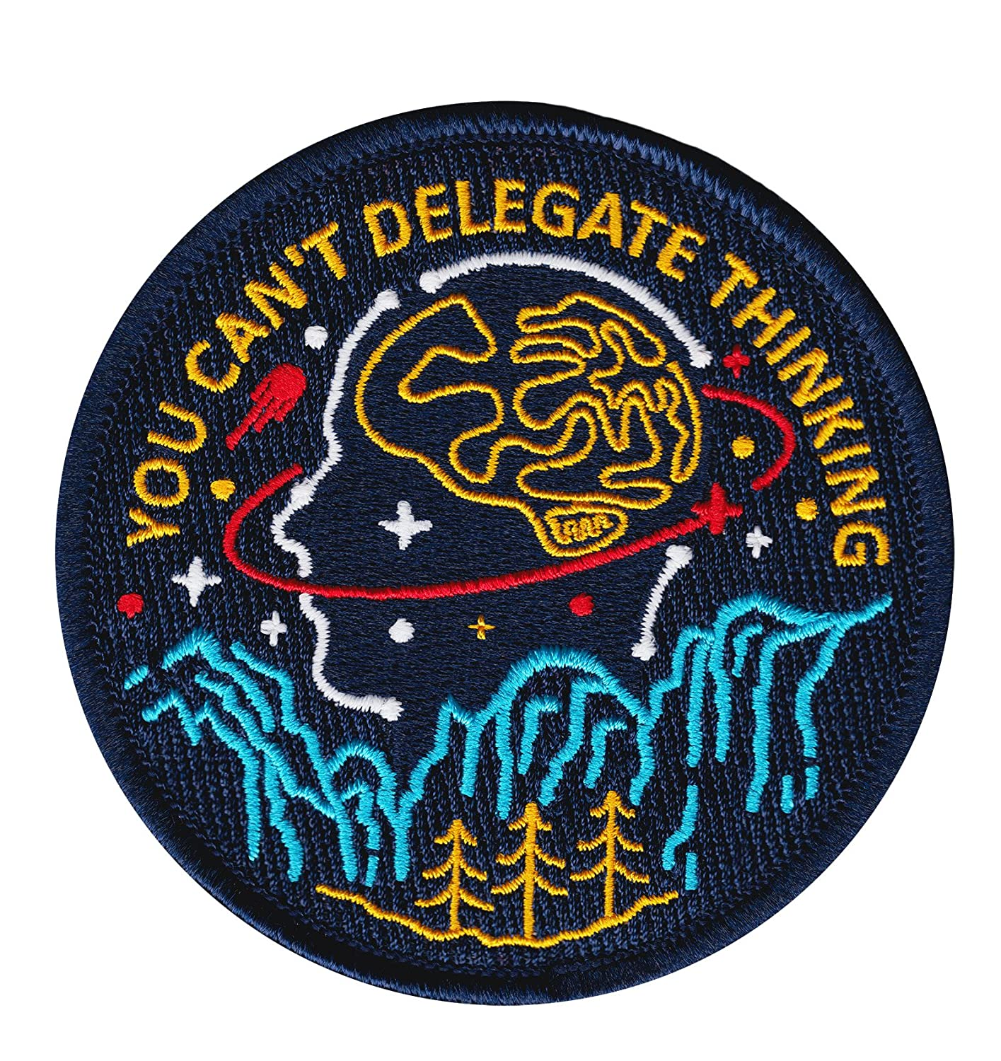 Asilda Store You Can't Delegate Thinking Iron-on Embroidered Patch 4337027060