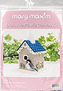 Mary Maxim Birdhouse Plastic Canvas Tissue Box Kit, 5
