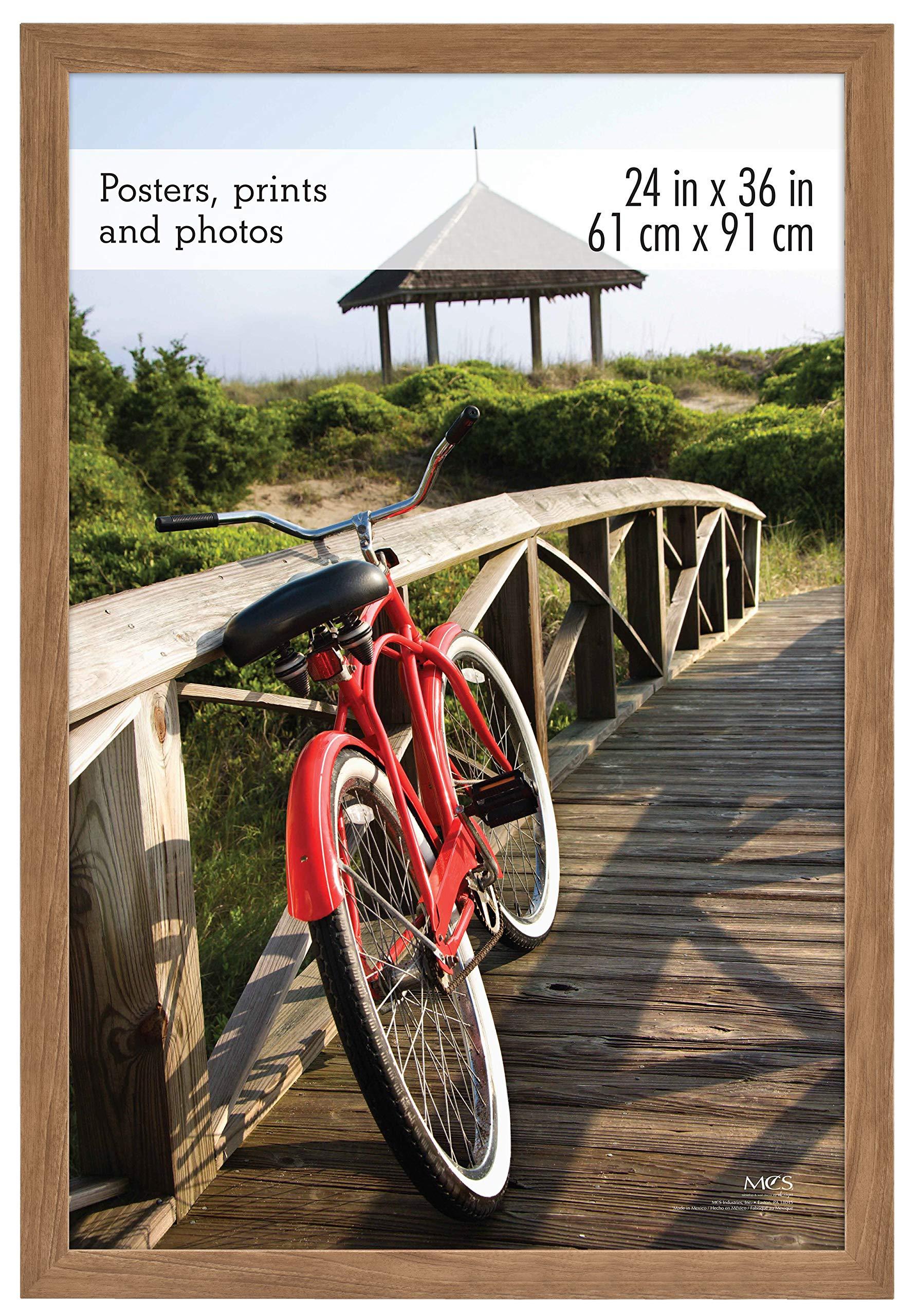 MCS 24x36 Inch Museum Poster Frame, Medium Oak Woodgrain (68863)
