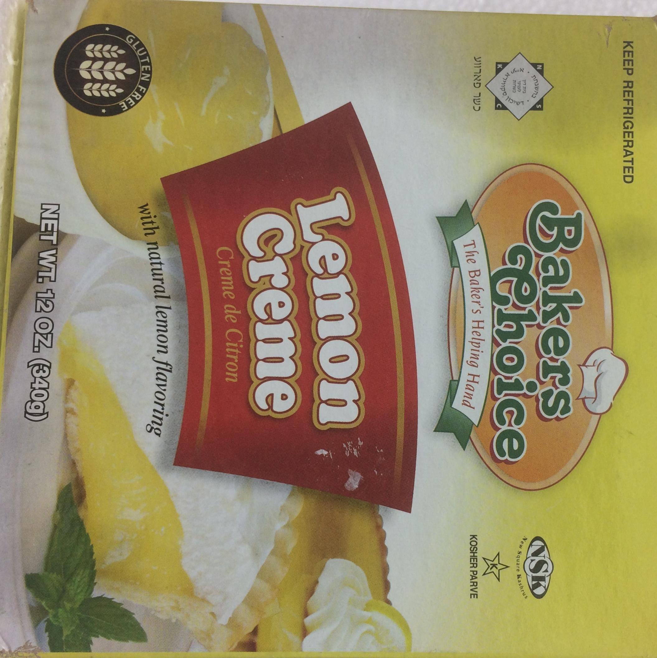 Bakers Choice Lemon Creme Gluten Free 12 Oz. Pack Of 3.