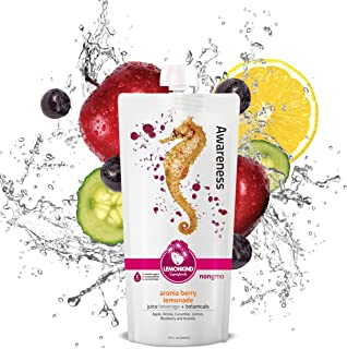 product image for LEMONKIND Aronia Berry Lemonade with Organic Acerola, Superfood Cleanse Juice – Vitality & Immune Support, Awareness (12oz, Pack of 10)