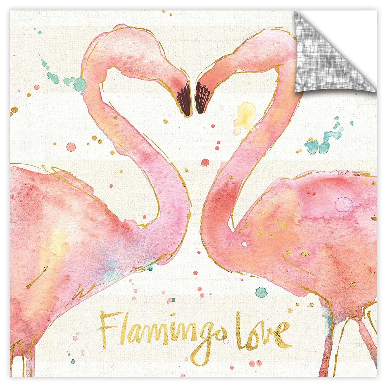 ArtWall Anne Tavolettis Flamingo Fever II Removable Wall Art Mural 18 x 18