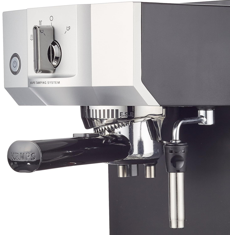 Acero Inoxidable Krups Steam /& Pump M/áquina De Espresso 1400 W Negro//Plateado