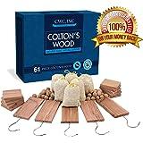 Moth Cedar Wood Combo Pack - Cedar Hang ups, blocks, balls and pouches Light Fresh Scent (61 Piece)