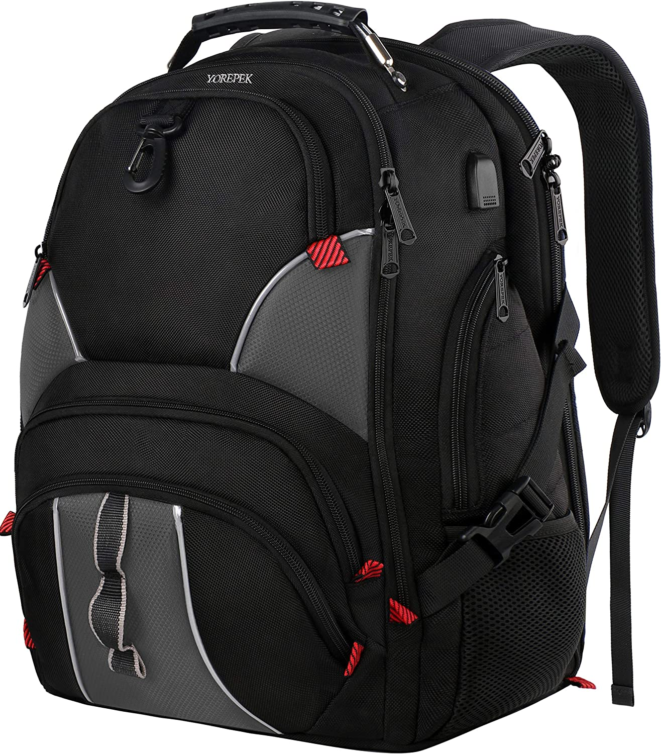 Large School Backpack,College Backpack for Men with USB Charging Port