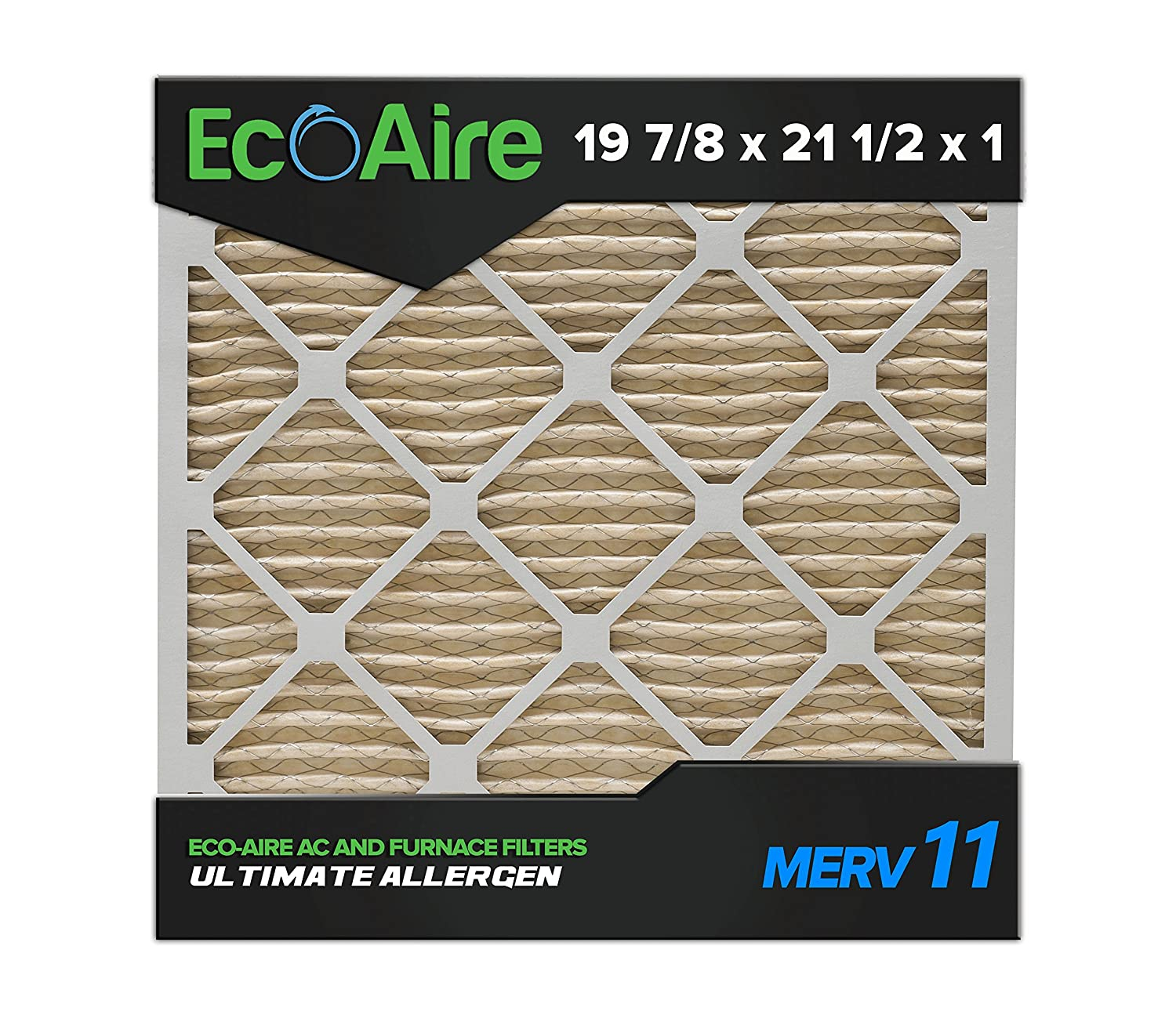 eco aire 19 7 8x21 1 2x1 merv 11 pleated air filter 19 7 8x21 1